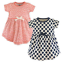 Touched by Nature 2-Pack Organic Cotton Dresses in Navy/Pink