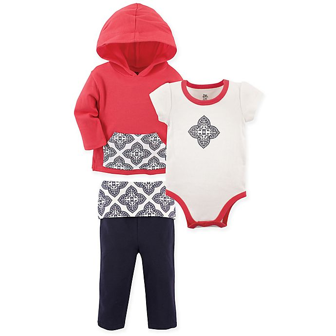 a7ff2b4fd70fb9 Yoga Sprout 3-Piece Clover Jacket, Bodysuit, and Pant Set in Fuchsia ...
