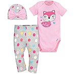 "Gerber® 3-Piece Size 3-6M ""So Sweet"" Cotton Bodysuit, Pant, and Hat Set"