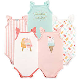 Hudson Baby® 4-Pack Ice Cream Sleeveless Bodysuits