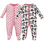 Luvable Friends® Size 0-3M 2-Pack Snap-Front Sleep N Play Coveralls