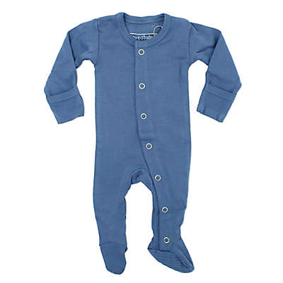 L'ovedbaby® Organic Cotton Footed Overall in Slate