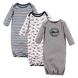 Hudson Baby® Size 0-6M 3-Pack Cotton Infant Gowns
