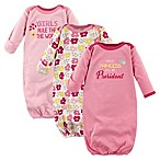 Luvable Friends® Size 0-6M 3-Pack Princess Infant Gowns in Pink