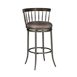 Hillsdale Furniture, Llc. Cortez Faux Leather Upholstered Stool in Pewter