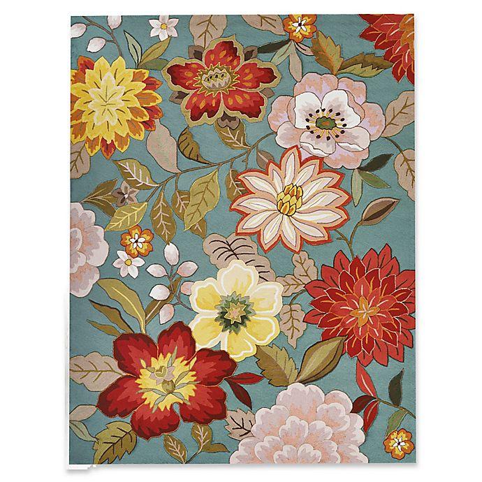 Alternate image 1 for Nourison Fantasy Floral 9' x 12' Area Rug in Aqua