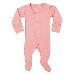 L'ovedbaby® Organic Cotton Footed Overall in Coral