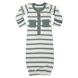 L'ovedbaby® Striped Organic Cotton Gown