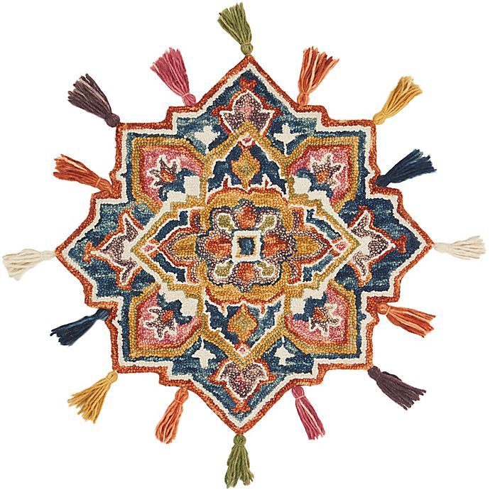 Alternate image 1 for Loloi Rugs Remy 3' Round Accent Rug in Navy/Spice