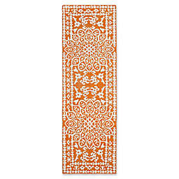 Safavieh Stone Wash Cyndy Damask 2'6 x 8' Runner in Copper