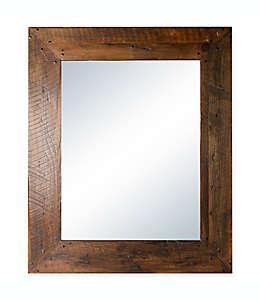 Columbia Frame Espejo rústico con marco de madera
