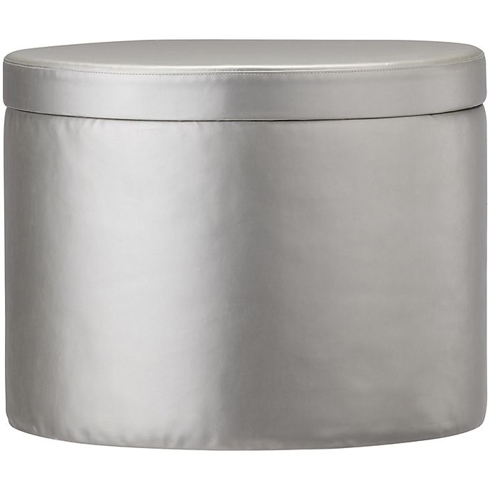 Little Seeds Metallic Ottoman In Silver Bed Bath Amp Beyond