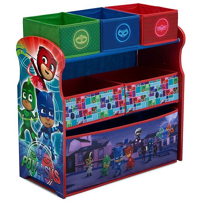 Alternate image 1 for PJ Masks 6-Bin Toy Organizer