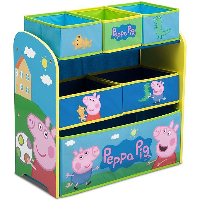 Alternate image 1 for Peppa Pig  6-Bin Toy Organizer