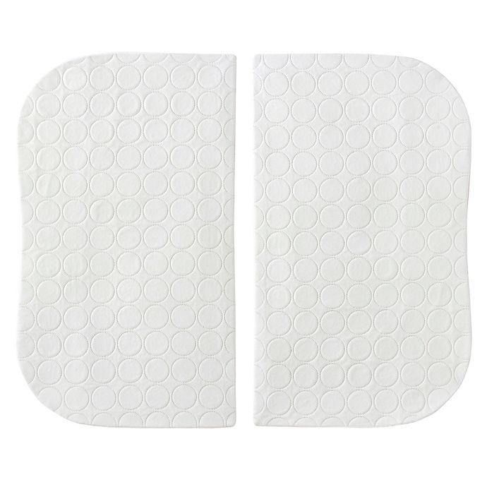 Alternate image 1 for HALO® Bassinest® Twin Waterproof Mattress Pad (Set of 2)