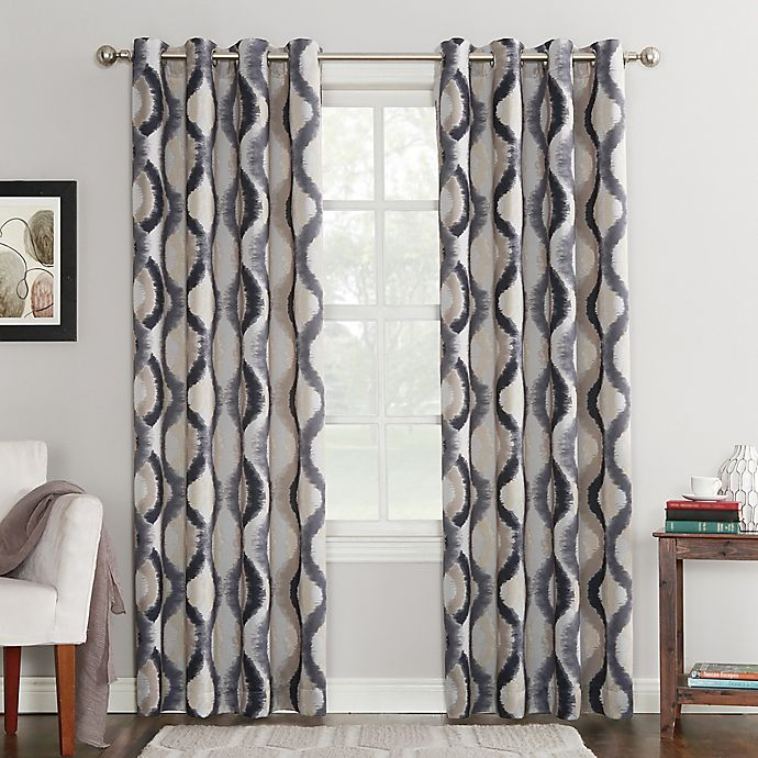 Alternate image 1 for Sun Zero® Courtney Room Darkening Grommet Top Window Curtain Panel
