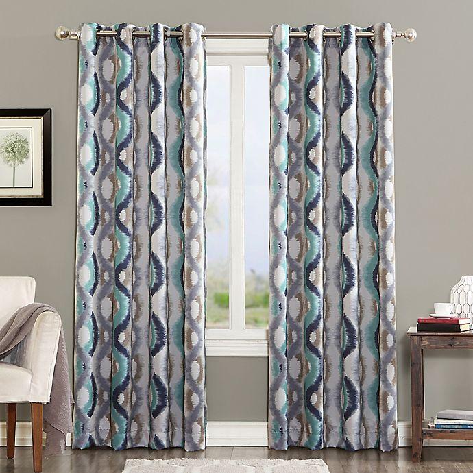 Alternate image 1 for Sun Zero Courtney 84-Inch Room Darkening Grommet Top Window Curtain Panel in Linen