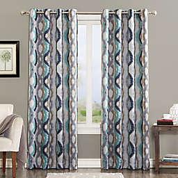 Sun Zero® Courtney 84-Inch Room Darkening Grommet Top Window Curtain Panel in Linen