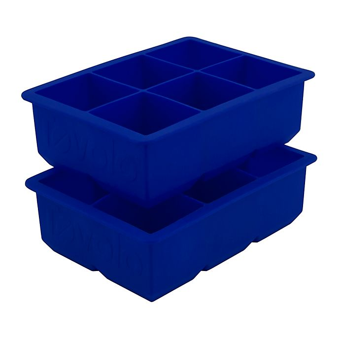 Alternate image 1 for Tovolo® Silicone King Ice Cube Trays in Blue (Set of 2)