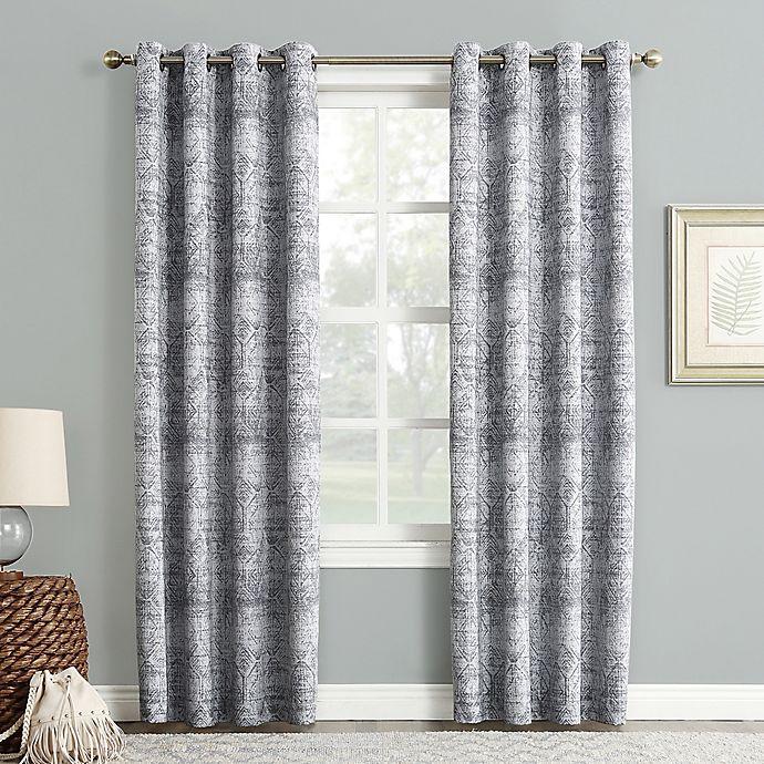 Alternate image 1 for Sun Zero Darren Grommet Room Darkening Window Curtain Panel