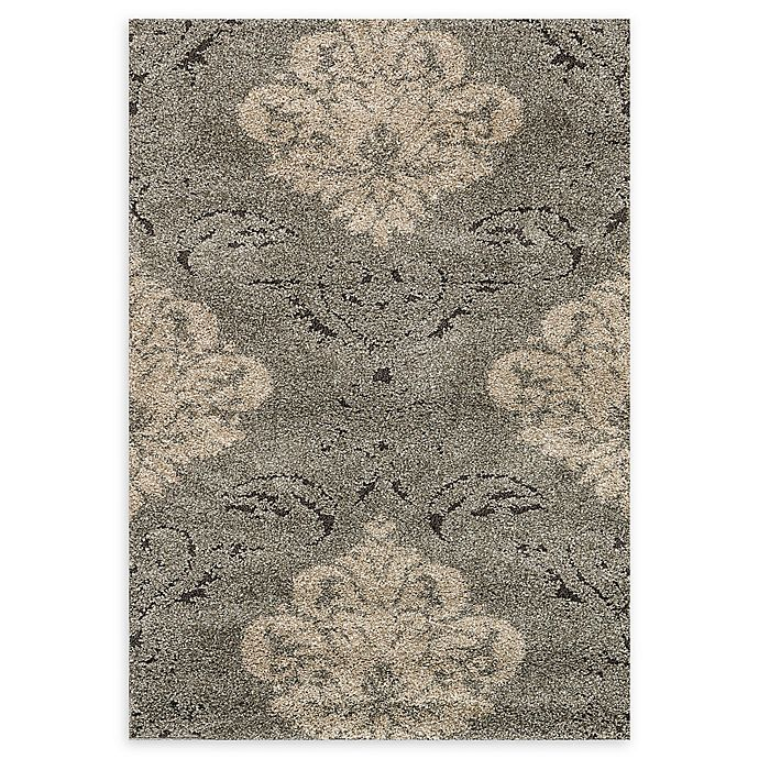 Alternate image 1 for Loloi Rugs Enchant Medallion 3'10 x 5'7 Power-Loomed Accent Rug in Smoke/Beige