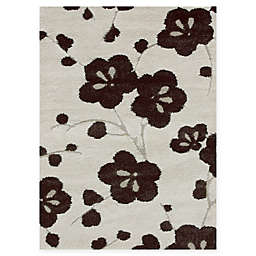 Loloi Rugs Enchant Floral Power-Loomed Rug in Ivory/Espresso