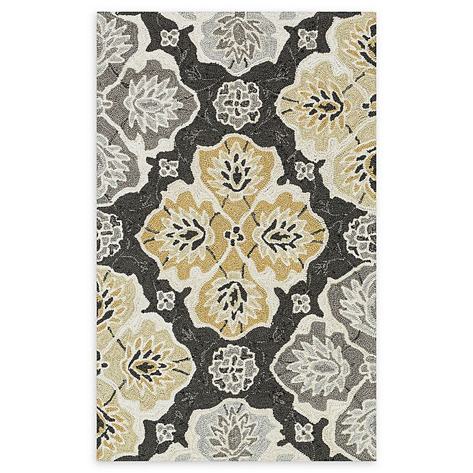 Alternate image 1 for Loloi Rugs Francesca Medallion 2'3 x 3'9 Handcrafted Area Rug in Charcoal