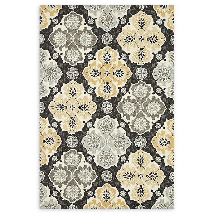 Alternate image 1 for Loloi Rugs Francesca Medallion 3' Round Handcrafted Area Rug in Charcoal