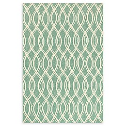 Loloi Rugs Venice Beach Waves Rug in Turqouise/Ivory