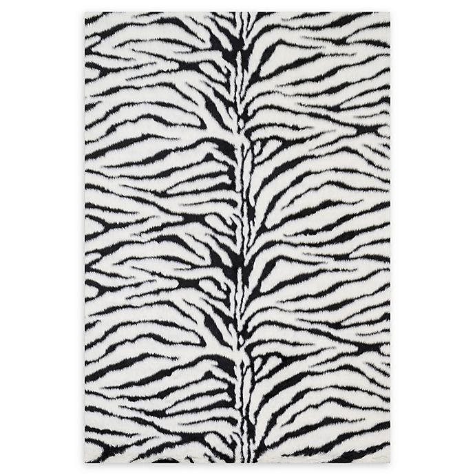 Alternate image 1 for Loloi Rugs Danso Shag Zebra Rug in Black/White
