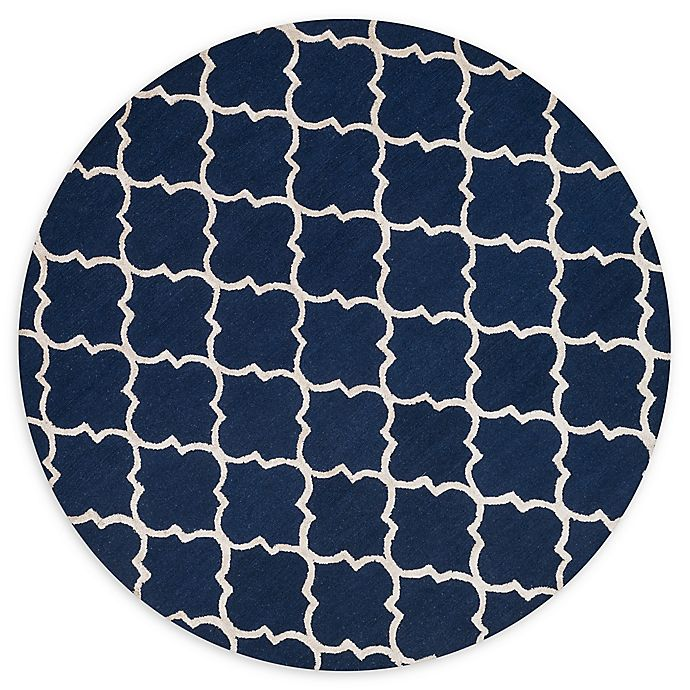 Alternate image 1 for Loloi Rugs Panache 7'6 Round Area Rug in Navy/Silver