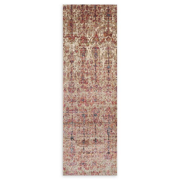 Alternate image 1 for Loloi Rugs Javari 2'6 x 8' Runner in Drizzle/Berry
