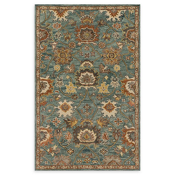 Alternate image 1 for Loloi Rugs Underwood 2'6 x 7'6 Handcrafted Runner in Blue/Rust