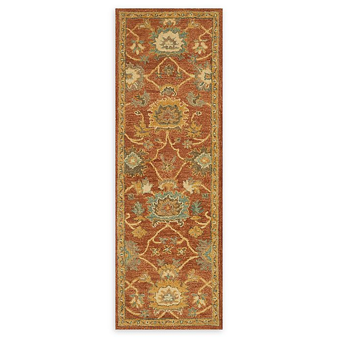 Alternate image 1 for Loloi Rugs Underwood 2'6 x 7'6 Handcrafted Runner in Rust/Gold