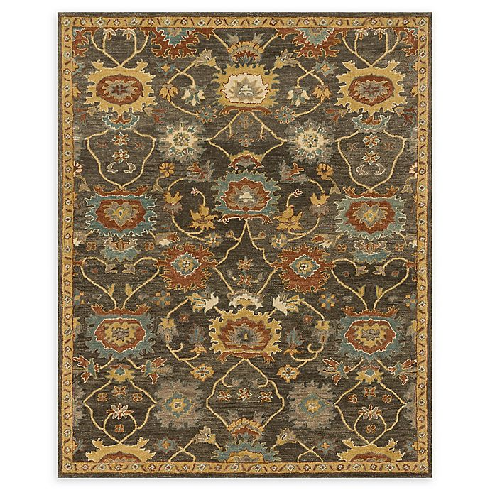 Alternate image 1 for Loloi Rugs Underwood 7'9 x 9'9 Handcrafted Area Rug in Charcoal/Gold