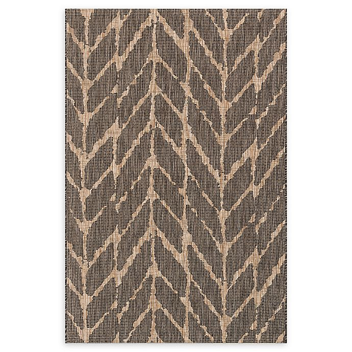 Alternate image 1 for Loloi Rugs Isle 5'3 x 7'7 Indoor/Outdoor Area Rug in Charcoal/Mocha
