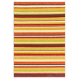 Loloi Rugs Venice Beach Striped Indoor/Outdoor Area Rug in Sunset