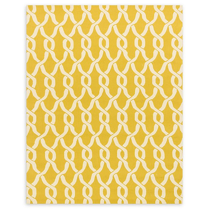 Alternate image 1 for Loloi Rugs Venice Beach 7'6 x 9'6 Indoor/Outdoor Area Rug in Goldenrod