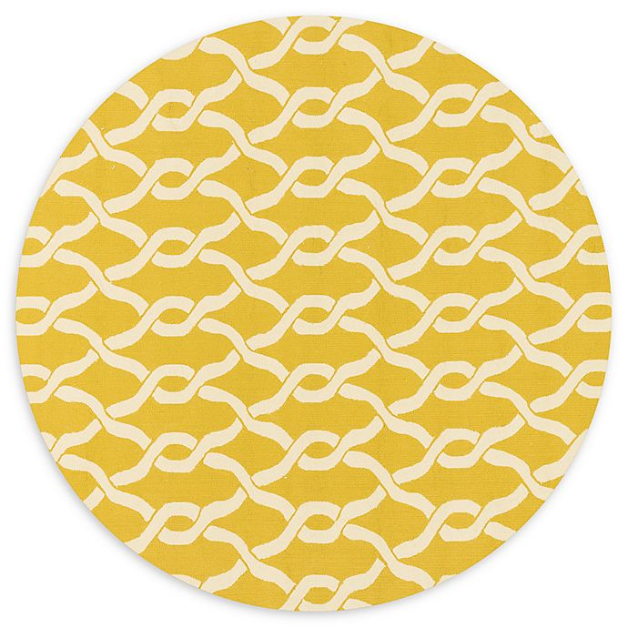 Alternate image 1 for Loloi Rugs Venice Beach 7'10 Indoor/Outdoor Round Area Rug in Goldenrod
