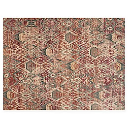 Loloi Rugs Javari Abstract Rug in Berry/Ivory