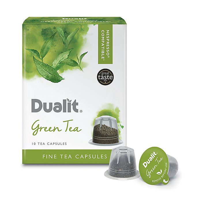 Alternate image 1 for Dualit® 60-Count Green Tea Nepresso® Compatible Fine Tea Capsules