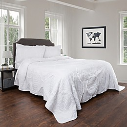Nottingham Home Curved Ruffle Quilt Set