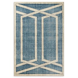 Libby Langdon Winston Directional Border Area Rug in Teal