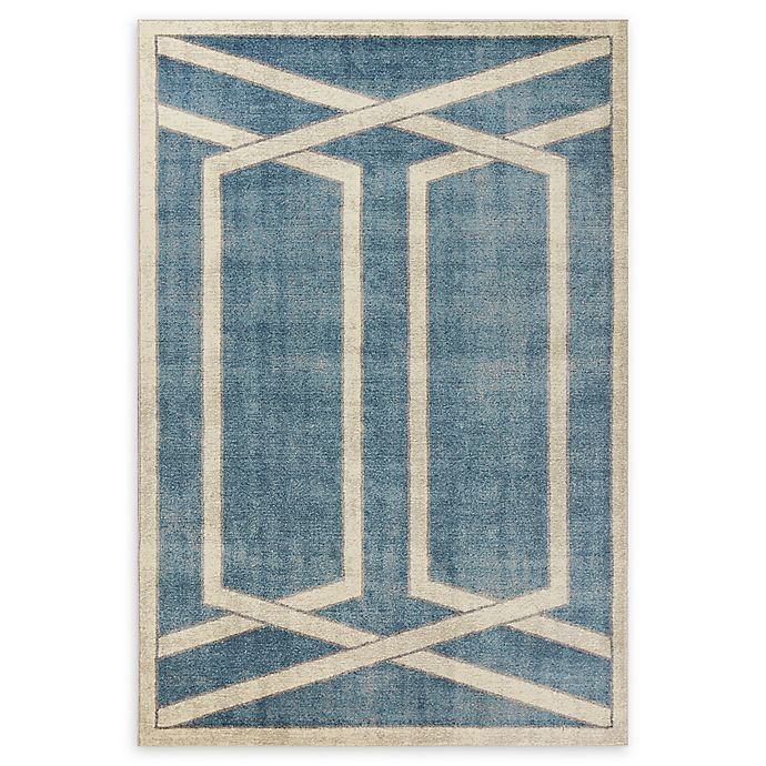 Alternate image 1 for Libby Langdon Winston Directional Border Area Rug in Teal