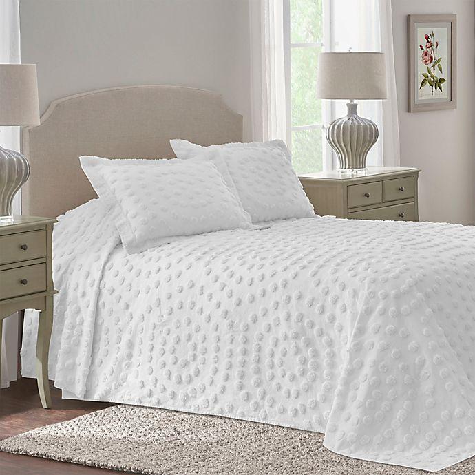 Alternate image 1 for Nostalgia Home™ Eden Chenille King Bedspread in White