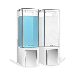 Better Living Clever Double Liquid Dispenser in White/Chrome