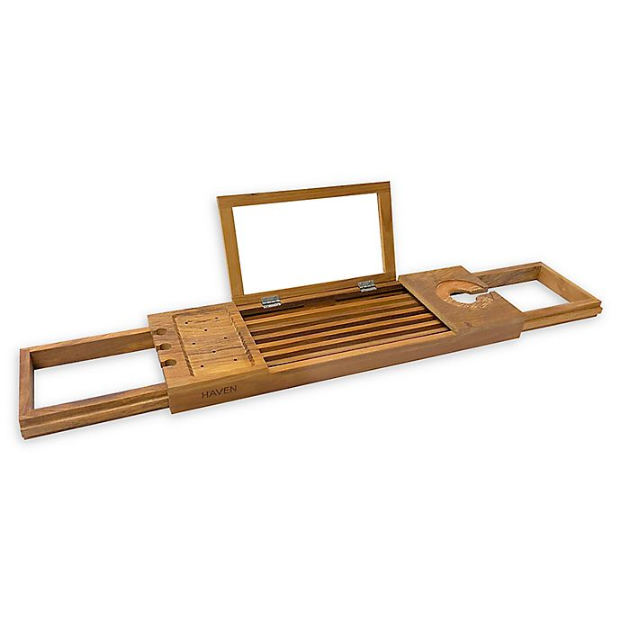 Alternate image 1 for Haven Teak Bathtub Caddy