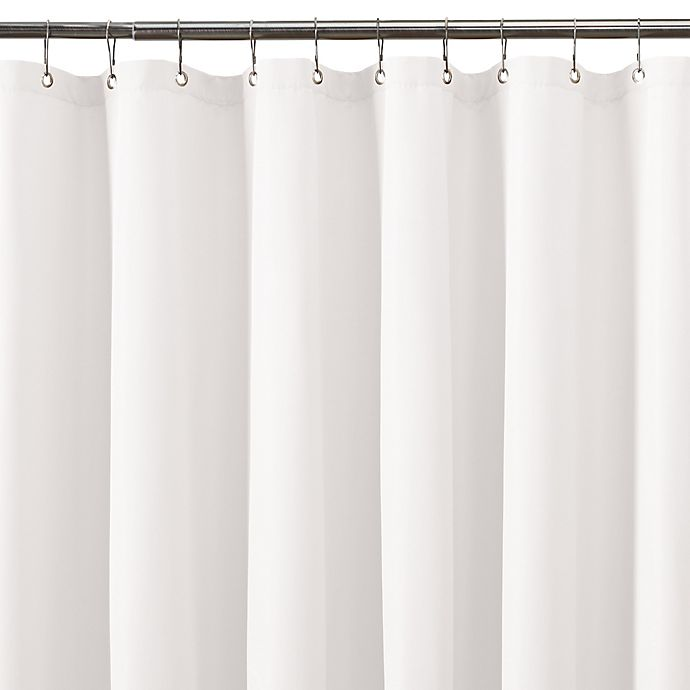TITAN Waterproof Plain Shower Curtain Liner In White