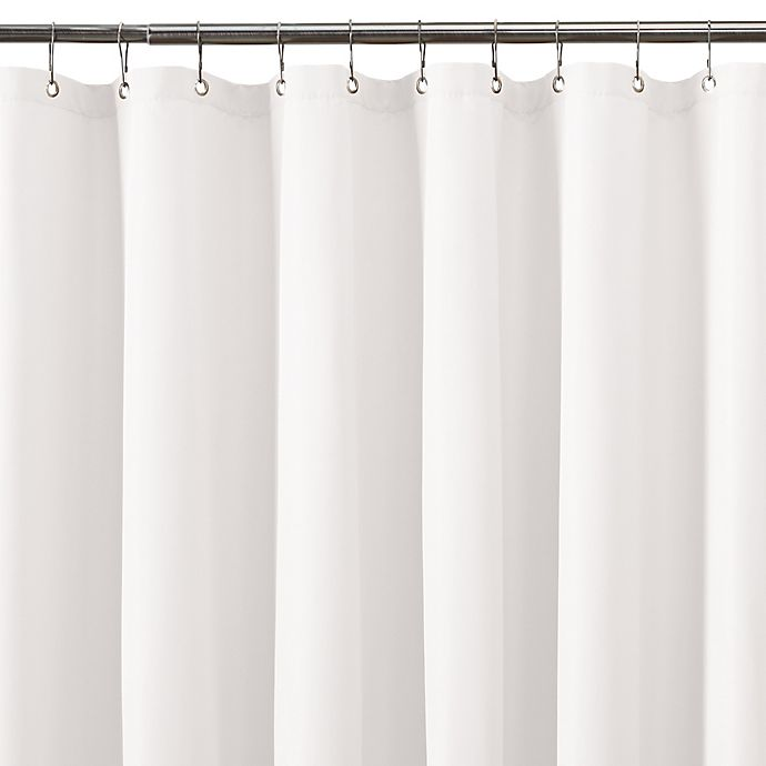 Alternate image 1 for TITAN Waterproof 70-Inch x 84-Inch Plain Shower Curtain Liner in White