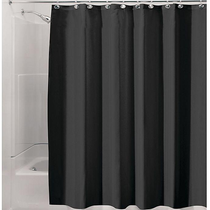 InterDesignR Waterproof Fabric Shower Curtain Liner